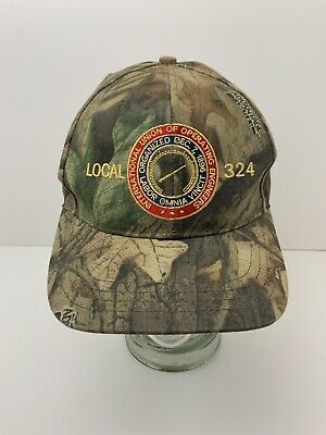 Local 324 Timber Camo Hat International Union Of Operating Engineers MI USA