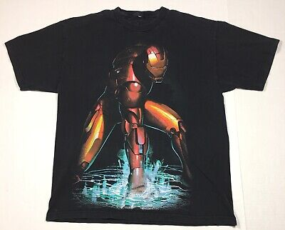 Marvel's Ironman Black Short Sleeve T-Shirt Men's XL Retro Avengers Hero Thor