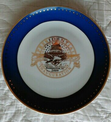 Obama inauguration 2009 collector plate