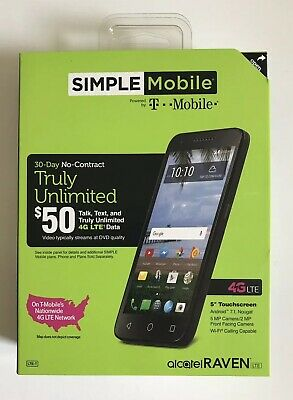 SIMPLE MOBILE ALCATEL RAVEN A574BL 4G LTE 5