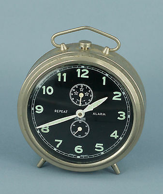 PETER Clock - CHROME Repeat Alarm - GERMANY Vintage Mantel