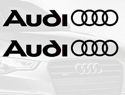 2 x AUDI LOGO RINGS CAR VINYL STICKERS / DECALS SIDE SKIRT GRAPHICS plotter