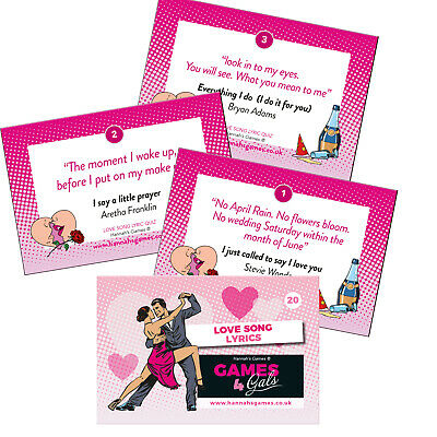 LOVE SONG LYRIC Hen Party Game Classy Hen Do Activity Music