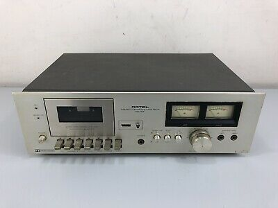 Rotel RD-10F Stereo Cassette Tape Deck Good Condition Working VU Gauge Meter