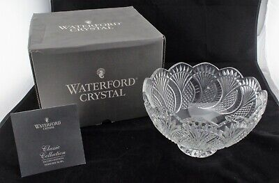 """Waterford Crystal SEAHORSE 10"""" Footed Centerpiece Bowl With Box."""
