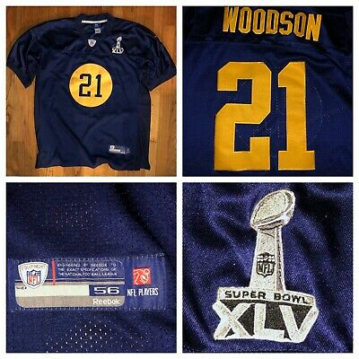 c0a61fca6 Reebok On Field Acme Packers Super Bowl Charles Woodson Sewn Jersey Size 56