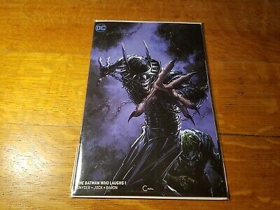 BATMAN WHO LAUGHS 1 Clayton Crain Virgin cover B 1st Grim Knight DC comic book