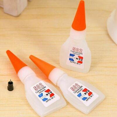 Super Glue Cyanoacrylate Instant Adhesive Strong Adhesion Fast Repair 502 K F2Y5