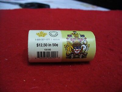 Roll Of 25   2015   Canada  Half  Dollar  Coins  Rare   50 Cent Piece   Sealed