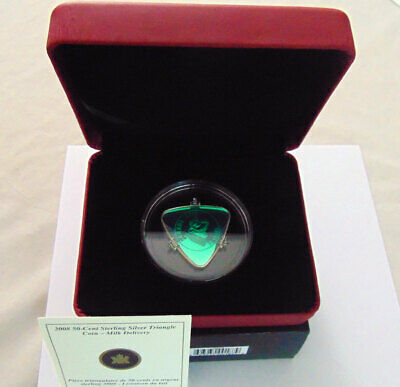 2008 50 Cent Milk Delivery Triangle Silver Coin (Green)