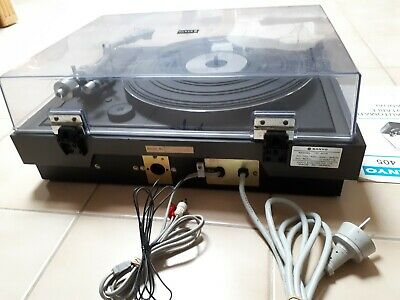 VINTAGE SANYO FULL AUTOMATIC STEREO TURNTABLE TP 405 with instructions