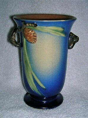 """Roseville Pinecone 6 1/4"""" Vase Mint Condition Pottery"""
