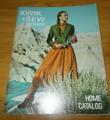 VINTAGE~KWIK SEW PATTERNS HOME CATALOGUE~1970's~LIST OF GREAT RETRO PATTERNS