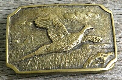 Pheasant Bird BTS Brass Vintage Belt Buckle