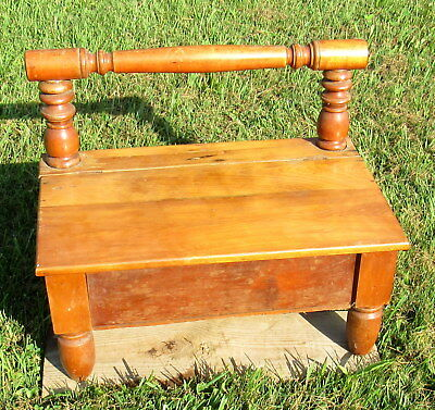 vtg large wooden shoe shine stand primitive unique (LOCAL PICKUP ONLY)
