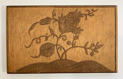 Nice American Arts & Crafts Movement Relief Carving Of Pineapple Signed Ca 1900