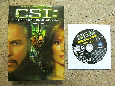 Csi:las Vegas - Complete Season 7 (24 Episodes) - 7 Disc Dvd + Cd Video Game..