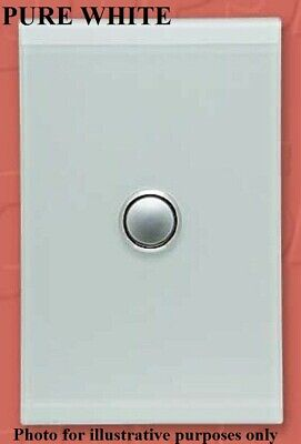 Clipsal 4000-SERIES SATURN SWITCH COVER 1-Gang Vertical PURE WHITE *Aust Brand