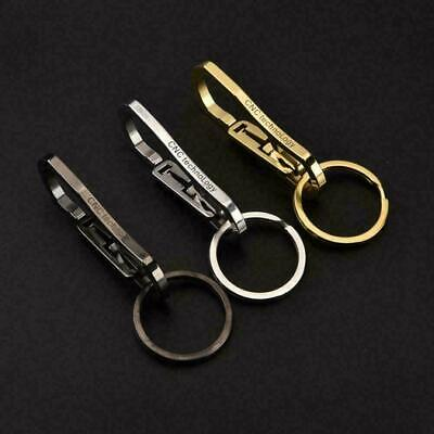 Stainless Steel Climbing Carabiner Key Chain Clip Hook Buckle Keychain Outd P9E5