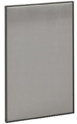 Clipsal 4000-SERIES SATURN SWITCH COVER Blank, Clip On Mount HORIZON SILVER
