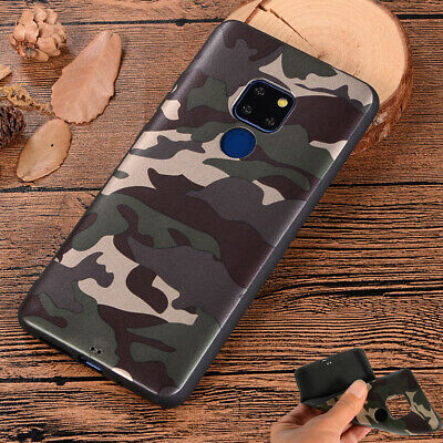 Camo Camouflage Case Cover for Huawei Mate 10 Lite Y7 Y6 2018 Slim Army Soft TPU