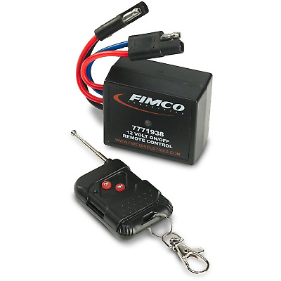 20 Amp Heavy Duty 12 Volt On/Off Wireless Remote Control Switch Quick Fimco New