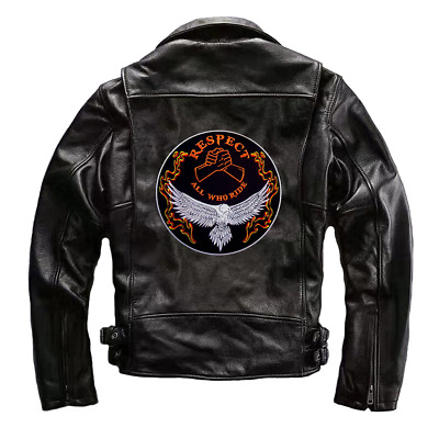 Respect All Who Ride Patch Motorcycle Mc Embroidered Iron On Jacket Leather Vest