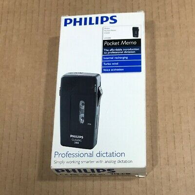 Philips Classic Lfh388 Pocket Memo Minicassette Recorder Dictaphone -New In Box