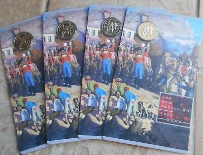 """latest release  2019 The Rum Rebellion Coin 1789 $1 Unc Coin on Card """"Mutiny"""