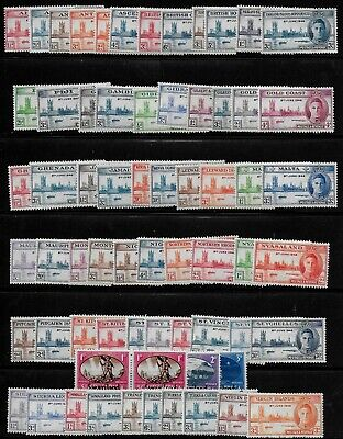 British Colonies 1946 KGVI Victory - 31 sets (66 stamps) - MLH