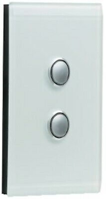 Clipsal SATURN SERIES GRID & PLATE ASSEMBLY 2-Gang Switch/Push Button OCEAN MIST