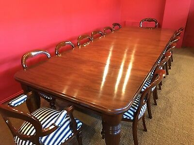 `AMAZING 12ft 1831-1901, Grand English Victorian Cuban mahogany dining table