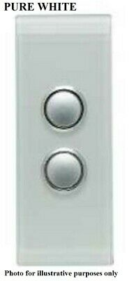 Clipsal 4000-SERIES SATURN SWITCH COVER 2-Gang Architrave, Clip On PURE WHITE
