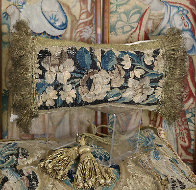 18th Century French Aubusson Verdure Tapestry Panel  Antique Pillow