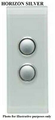 Clipsal 4000-SERIES SATURN SWITCH COVER 2-Gang Architrave,Clip On HORIZON SILVER