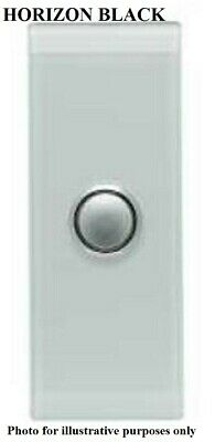 Clipsal 4000-SERIES SATURN SWITCH COVER 1-Gang Architrave, Clip On HORIZON BLACK