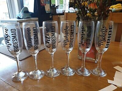 Personalised Vinyl Decal for WINE GLASS.. ideal for weddings birthdays