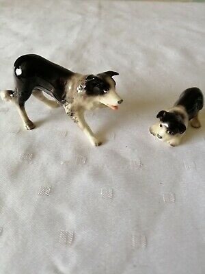 Hagen Renaker Miniature, Collie Dog And Pup, Good Condition, Very Cute