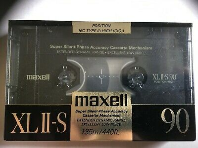 Maxell Xlii-S 90 Factory Sealed Audio Cassette