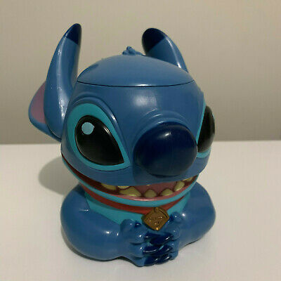 Walt Disney On Ice Lilo & Stitch Collectable Plastic Mug Cup Flip Lid Character