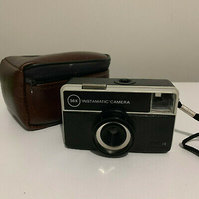 Kodak 56x Instamatic Camera Photo Film Vintage Retro + Carry Bag