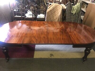 9Ft Rare Exquisite William Iv Cuban Mahogany Table Pro French Polished