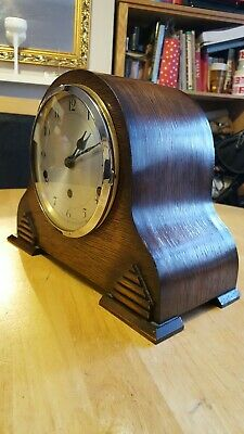 Vintage Westminster Chime Napoleon Hat Mantle Clock With Key
