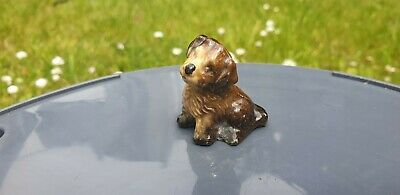 Wade Whimsies Miniature Porcelain Animal Figure Puppy Dog