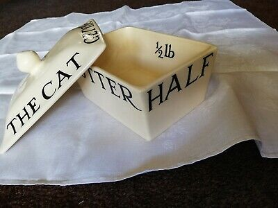 Emma Bridgewater - Butter Dish - Black Toast 1/2lb size, used but perfect