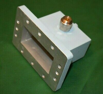 WR340 Waveguide to APC 7 mm Coaxial Adapter 2.2-3.3 GHz Maury Microwave 2450 MHz