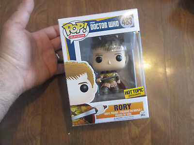 Funko Pop Bbc Doctor Who Rory # 483 Exclusive Hot Topic New Sold Out Read