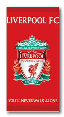Liverpool Football Club LFC Crest 100 % Cotton towel Beach Swimming Holiday