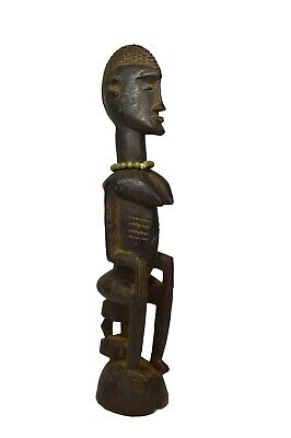 Elegant Old Dogon Seated Female Ancestor , African Art
