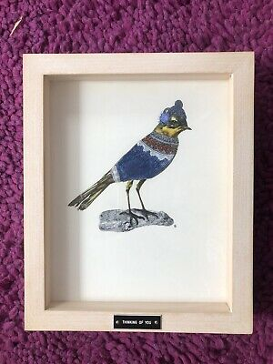 Jen Franklin Framed Victorian Bird Picture Collage 'Thinking Of You' 2008